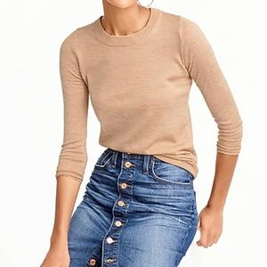 J.Crew beige camel Tippi crewneck sweater NEW